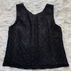 Tres You Lace Tank Top Lined